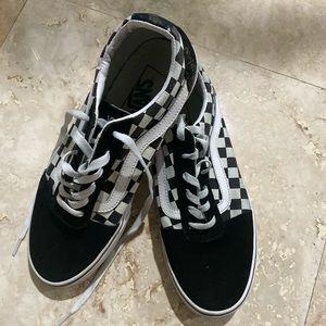 Vans Old Skool - Checkerboard Black/White Women 10